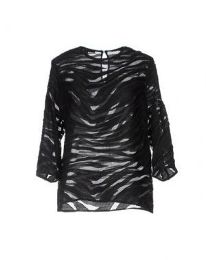 Блузка WALTER VOULAZ. Цвет: черный