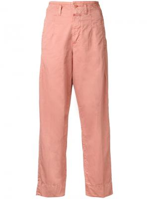 Укороченные прямые брюки Closed. Цвет: розовый и фиолетовый