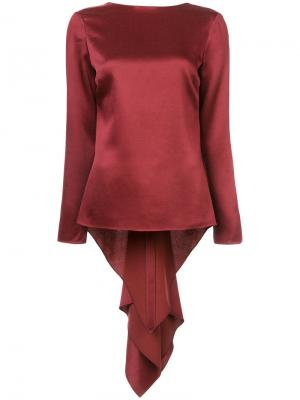 Draped back blouse Rosetta Getty. Цвет: красный