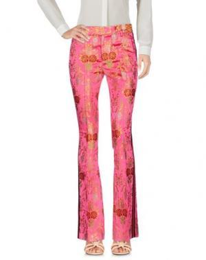 Повседневные брюки FEMME by MICHELE ROSSI. Цвет: фуксия