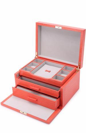 Шкатулка для украшений Mara Smythson. Цвет: оранжевый