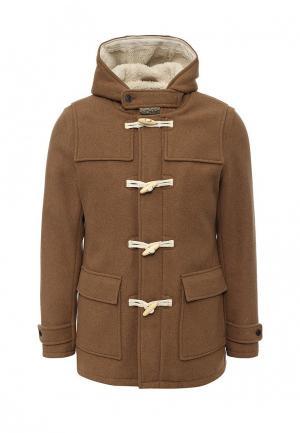 Пальто Selected Homme. Цвет: коричневый
