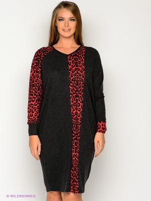 Платье МадаМ Т. Цвет: антрацитовый, красный