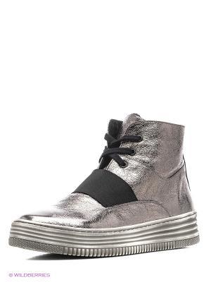 Ботинки Tucino. Цвет: серебристый
