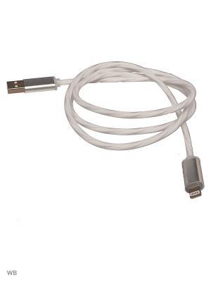 Кабель-переходник светящийся USB-8pin белый (CBL710-U8-10W) WIIIX 1м. Цвет: белый