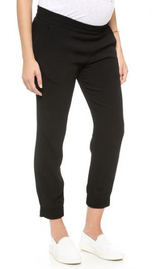 Узкие спортивные брюки из крепа для беременных MONROW. Цвет: голубой