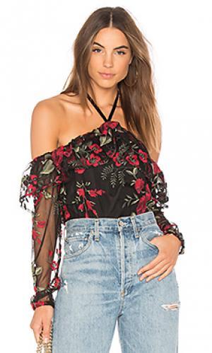 Блуза с открытыми плечами jazz cupcakes and cashmere. Цвет: черный
