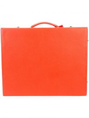 Квадратный чемодан Mark Cross. Цвет: красный