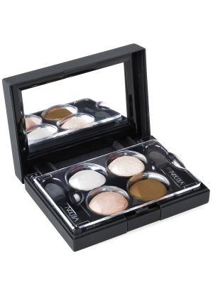 Тени для век КватроQuattro Eyeshadows 607, 2,4г NOUBA. Цвет: белый, зеленый, коричневый, бежевый