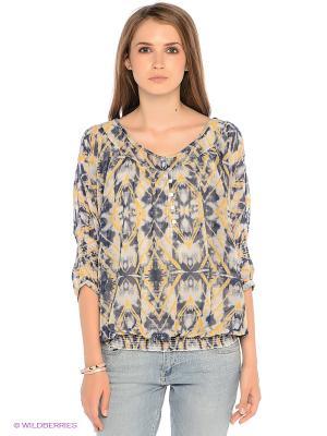 Блузка S.OLIVER. Цвет: синий, желтый