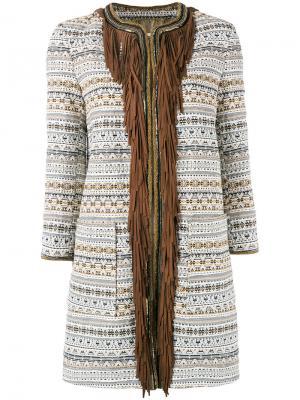 Пальто с бахромой Bazar Deluxe. Цвет: многоцветный