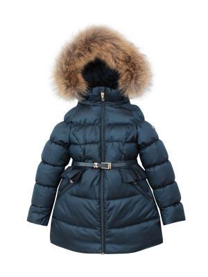 Пальто с утеплителем Pulka. Цвет: темно-синий