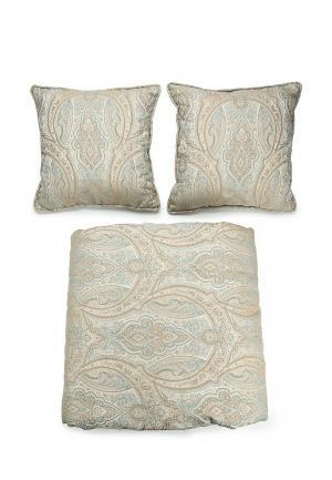 Комплект 2 подушки декоративные и 1 покрывало Togas. Цвет: бежевый