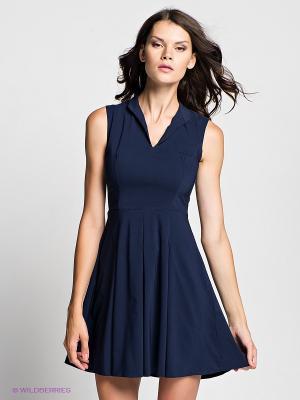 Платье Verezo. Цвет: темно-синий