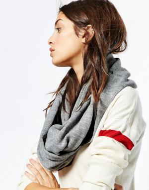 Plush Шарф на флисовой подкладке Infinity. Цвет: серый