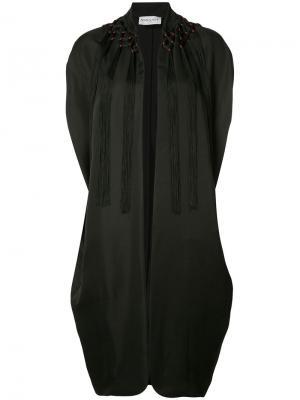 Пальто-кейп Vionnet. Цвет: чёрный