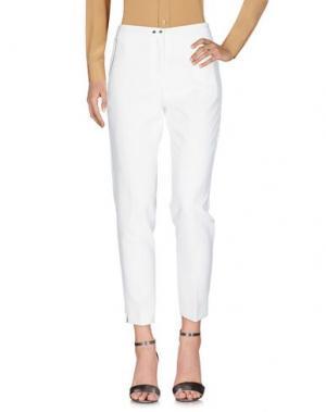 Повседневные брюки BIANCOGHIACCIO. Цвет: белый