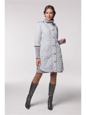 Пальто DizzyWay. Цвет: светло-серый
