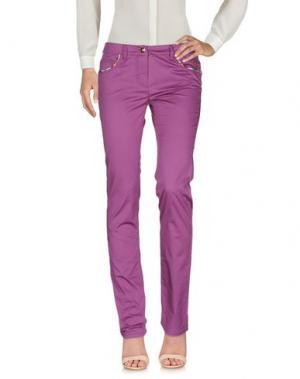 Повседневные брюки PIERO GUIDI. Цвет: светло-фиолетовый