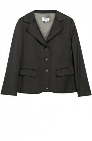 Однобортный пиджак на трех пуговицах Aletta. Цвет: серый