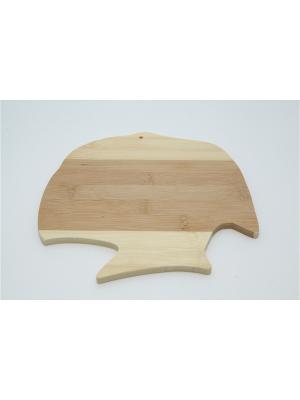 Доска разделочная бамбук фигурная. Vetta. Цвет: синий