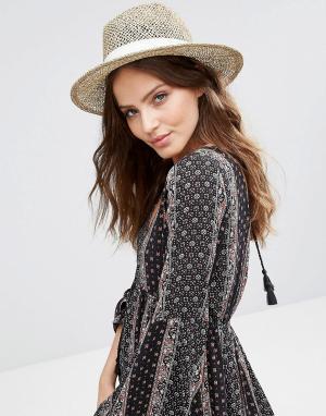 Hat Attack Плетеная шляпа. Цвет: бежевый