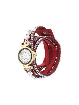 Браслет-часы Olere. Цвет: золотистый, красный, серебристый