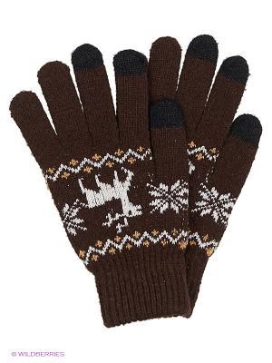 Перчатки для сенсорных экранов TERRITORY. Цвет: коричневый