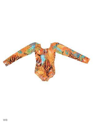Купальник Танцевальный Мир. Цвет: оранжевый