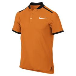 Теннисная рубашка-поло для мальчиков школьного возраста Court Advantage Nike. Цвет: оранжевый
