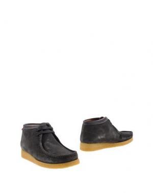 Полусапоги и высокие ботинки SEBAGO. Цвет: свинцово-серый