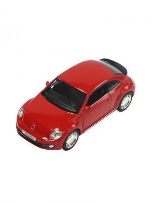 Машинка Инерционная Volkswagen New Beetle (2012), Красная (1:32) (PS-554023-R) Pit Stop. Цвет: красный