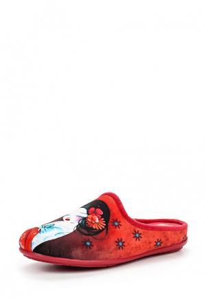 Тапочки Mon Ami. Цвет: красный