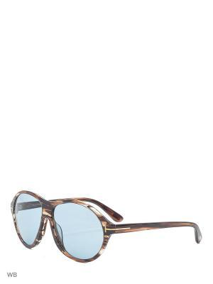 Солнцезащитные очки FT 0398 50J Tom Ford. Цвет: коричневый, серый