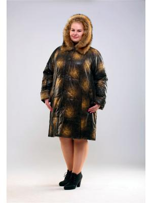 Пальто 55604 Trevery. Цвет: горчичный