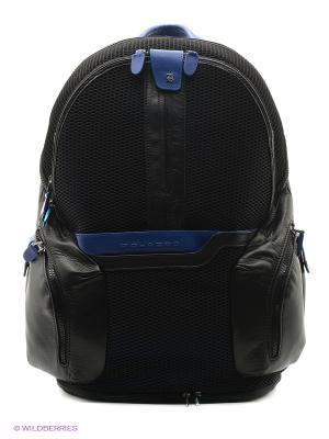 Рюкзак PIQUADRO. Цвет: черный, синий