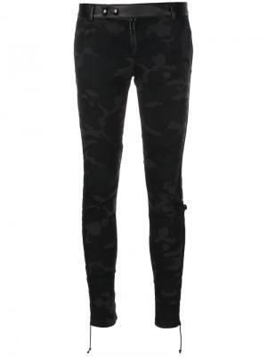 Камуфляжные брюки Faith Connexion. Цвет: коричневый