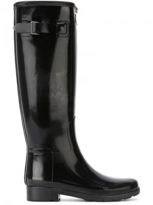 Резиновые ботинки Hunter. Цвет: чёрный