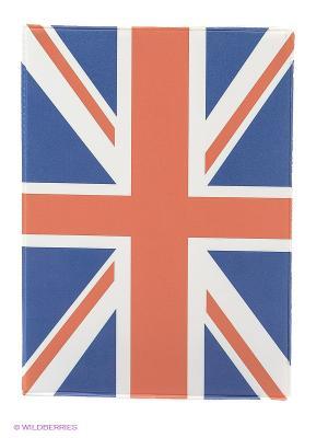 Обложка для паспорта United Kindom Kawaii Factory. Цвет: синий, красный, белый