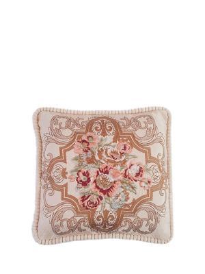 Подушка декоративная 50х50 La Pastel. Цвет: коричневый, бежевый, розовый
