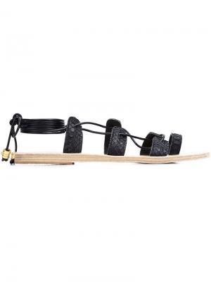 Сандалии Alcyone Snake Sunbeam Ancient Greek Sandals. Цвет: чёрный