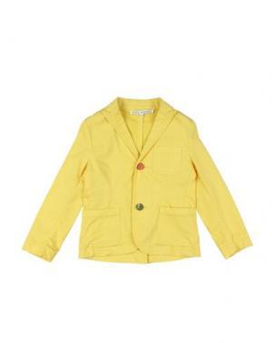 Пиджак DANIELE ALESSANDRINI. Цвет: желтый