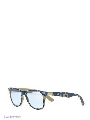 Солнцезащитные очки TOUCH. Цвет: синий