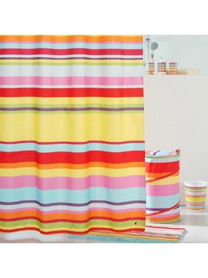 Штора для ванной IDDIS. Цвет: желтый