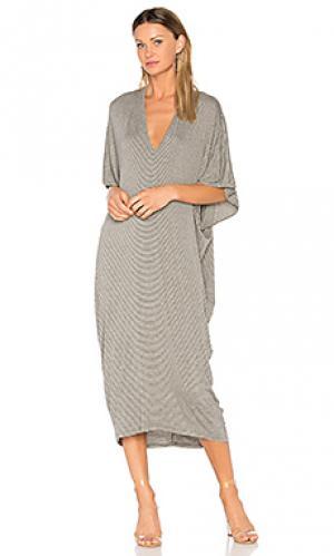 Длинное платье в полоску luca Riller & Fount. Цвет: серый