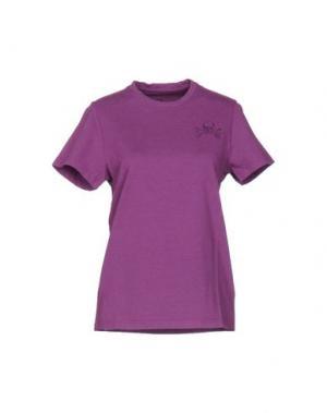 Футболка MR. WOLF. Цвет: розовато-лиловый