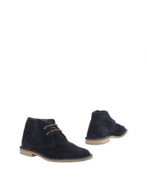 Полусапоги и высокие ботинки ANDERSON. Цвет: темно-синий