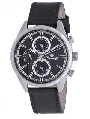 Часы наручные Romanoff. Цвет: черный, серебристый