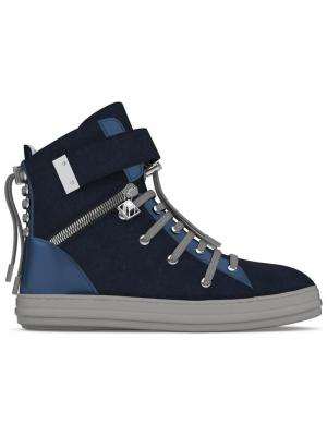 Хайтопы Regent Myswear. Цвет: синий