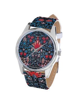 Часы Mitya Veselkov Тюльпановый принт. Цвет: белый